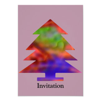 Christmas Tree - Blue/Red/Green Card