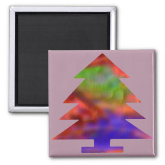 Christmas Tree - Blue/Red/Green Refrigerator Magnet