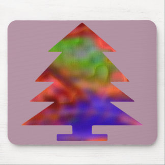 Christmas Tree - Blue/Red/Green Mouse Pad