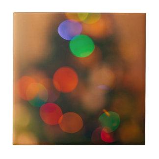 Christmas Tree Bokeh Abstract Photography Art Ceramic Tile