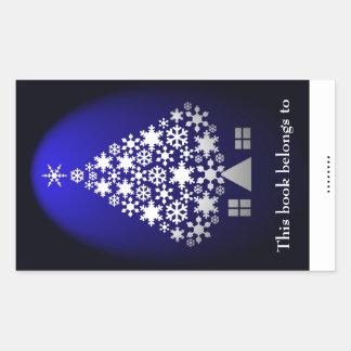 Christmas tree book plate