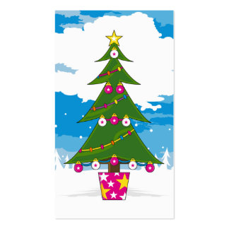 Christmas Tree Bookmark Business Cards