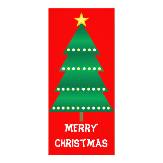 Christmas Tree Bookmark Rack Card