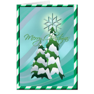 CHRISTMAS TREE & BORDER by SHARON SHARPE Card