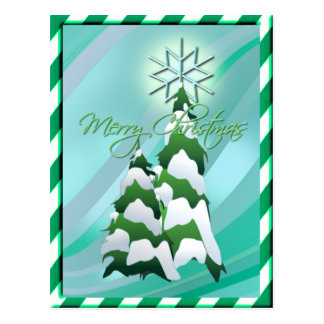CHRISTMAS TREE & BORDER by SHARON SHARPE Postcard