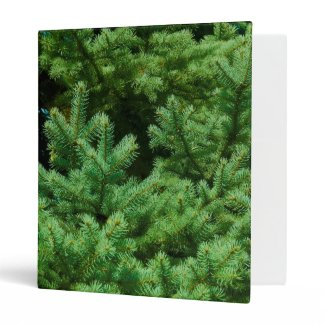 christmas tree branches binder