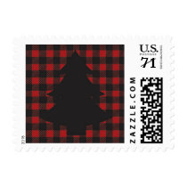 Christmas Tree Buffalo Plaid Stamp
