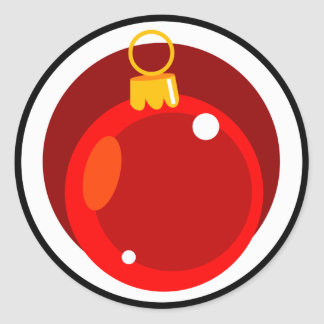 Christmas Tree Bulb Classic Round Sticker
