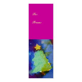CHRISTMAS TREE BUSINESS CARD TEMPLATE