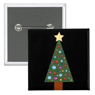 Christmas Tree Pinback Buttons