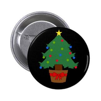 Christmas Tree Button Badge