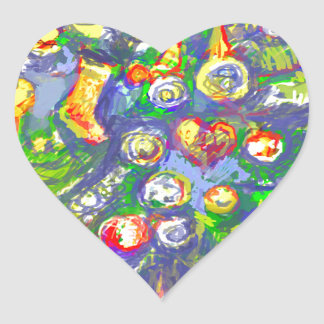 *Christmas tree by Albruno* Heart Sticker
