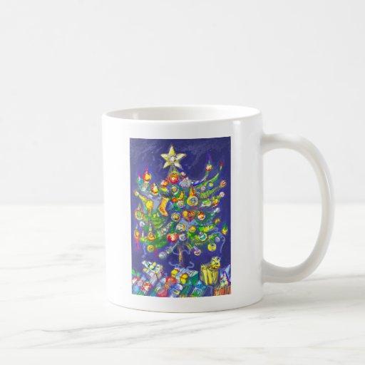 *Christmas tree by Albruno* Classic White Coffee Mug