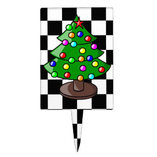 Christmas Tree Cake Pick Cake Toppers