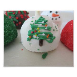 Christmas Tree Cake Pop Photo Print