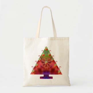 Christmas Tree-Candy Cane Canvas Bag