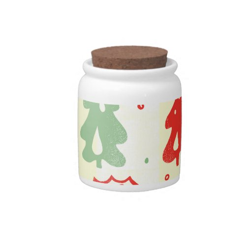 Christmas Tree Candy Cane Holly Pattern Candy Dish
