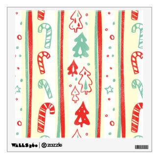 Christmas Tree Candy Cane Stripe Pattern Wall Sticker