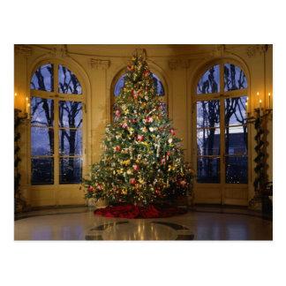 Christmas tree card post card