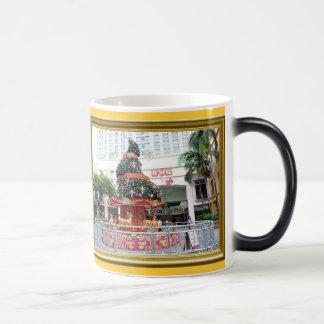 Christmas tree carouselle 11 oz magic heat Color-Changing coffee mug