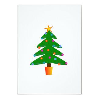 Christmas tree cartoon card