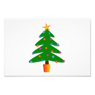 Christmas tree cartoon photo print