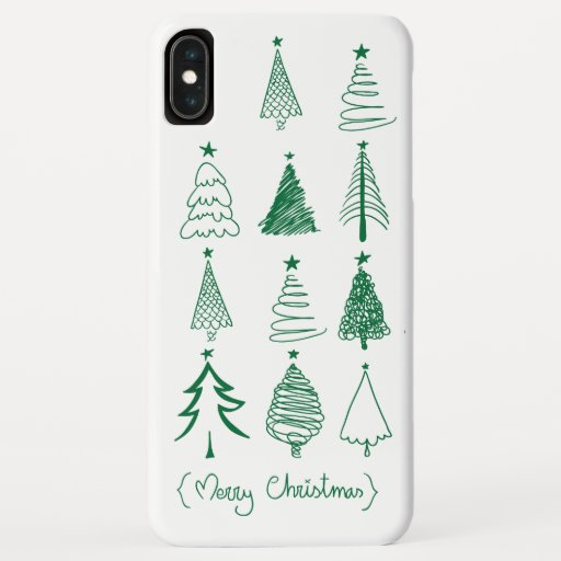 Christmas tree iPhone XS max case