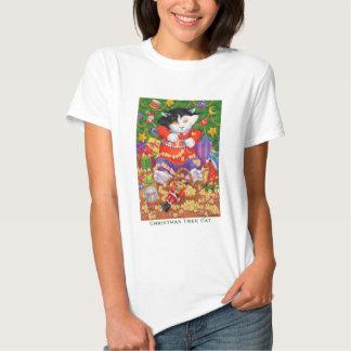 Christmas Tree Cat T-Shirt