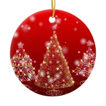Christmas Themed Christmas tree ceramic ornament