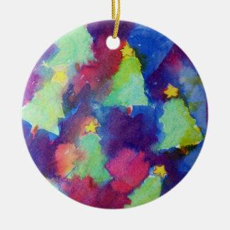 CHRISTMAS TREE CERAMIC ORNAMENT
