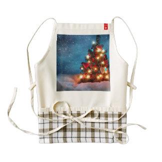 Christmas tree - Christmas decorations -Snowflakes Zazzle HEART Apron