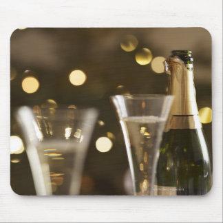 christmas tree christmas lights champaigne mouse pads
