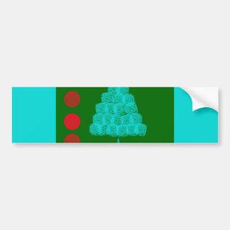 Christmas Tree Christmas Ornament Contemporary Bumper Sticker