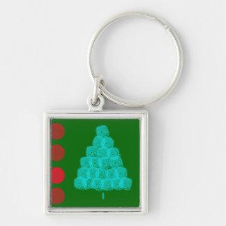 Christmas Tree Christmas Ornament Contemporary Keychain