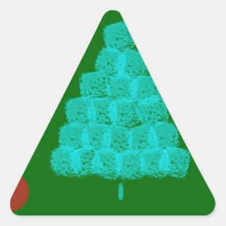 Christmas Tree Christmas Ornament Contemporary Triangle Stickers