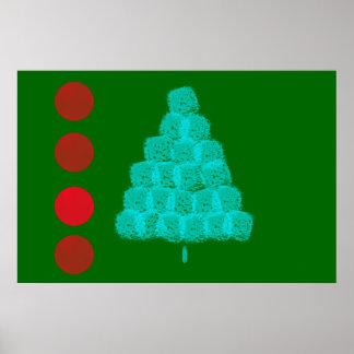 Christmas Tree Christmas Ornaments Comtemporary Print