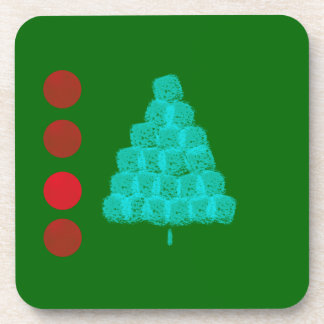 Christmas Tree Christmas Ornaments Contemporary Drink Coaster