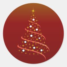 Christmas Tree Christmas Tree Classic Round Sticker at Zazzle