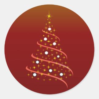 Christmas tree christmas tree classic round sticker