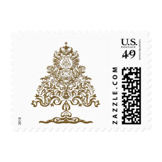 Christmas tree classic postage stamps