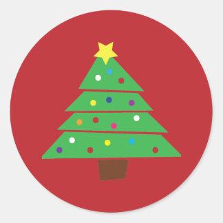 Christmas Tree Classic Round Sticker