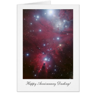 Christmas Tree Cluster - Happy Anniversay Darling Greeting Card