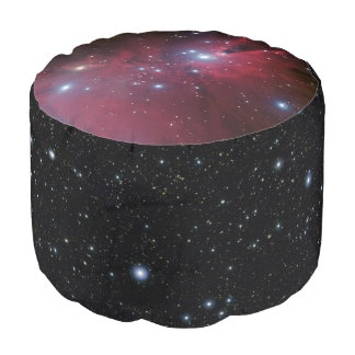 Christmas Tree Cluster outer space picture Pouf