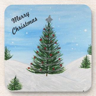 Christmas Tree Coasters (Set of 6)