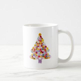 (Christmas) Tree Collage of Flowers in Bloom Mug