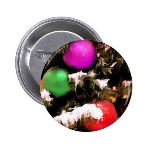 Christmas Tree Colorful Holiday Ornaments Pin