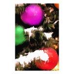 Christmas Tree Colorful Holiday Ornaments Custom Stationery