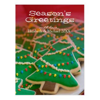 Christmas tree cookies postcard