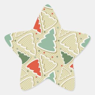 Christmas Tree Cookies Star Sticker