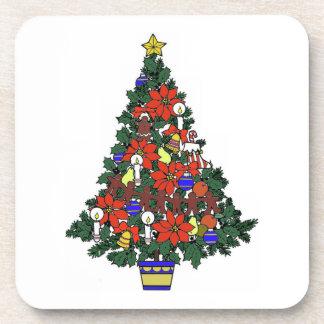 Christmas Tree Cork Coaster
